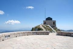 Lovchen mausoleum, Montenegro. The mausoleum of Lovchen in Montenegro Stock Photos