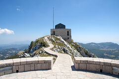 Lovchen, Montenegro. The mausoleum of Lovchen in Montenegro Royalty Free Stock Photos
