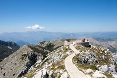Lovchen viewpoint, Montenegro Royalty Free Stock Photography