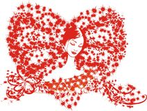 Love. Lady love red  valentine  women young adult Stock Photo
