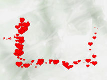 Love. Red hearts with background gray Royalty Free Stock Images