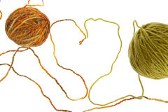 Love. Heart of the threads, skein of thread Stock Photo