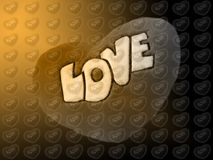 Love. Big sign love and many small signs love background Vector Illustration