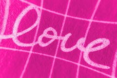 Love. Abstract pink love illustration with handwritten text Royalty Free Stock Photography