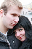 Love. Portrait of the couple. Love, romantic and tenderness Stock Photos