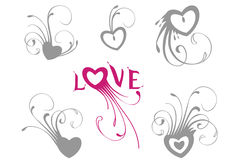 Love. Valentine's ornate hearts for your designs Stock Photography