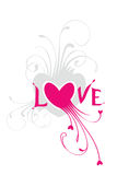 Love. Valentine's ornate heart for your design Royalty Free Stock Image