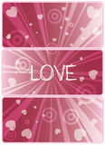 Love. Valentine's day card. All elements and textures are individual objects. Vector illustration scale to any size Stock Photography