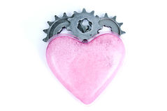 Love. Gears mechanic heart witch tech Royalty Free Stock Photos