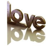Love. The word love is isolated on a white background Royalty Free Stock Photo