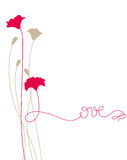 Love. Floral Love card (EPS8 file included Stock Photo