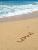 Love. It's a photo of love at the beach Royalty Free Stock Image