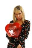 Love. Photo-session of girl Natasha with balloon in studio Stock Photos