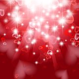 Love. Bright theme with hearts and stars stock illustration