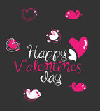 Love. Simple vector Illustration of valentines day card design Royalty Free Stock Photography