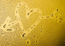 Love. Water drops on Valentine's Day Stock Photo