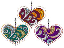 Love. Lacy valentine from various elements in the ethnic style Royalty Free Stock Photography