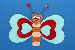 Love. Different sized hearts in shape of a butterfly royalty free stock photography