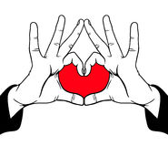 Love. Hands symbolic love, vector illustration Royalty Free Stock Photo