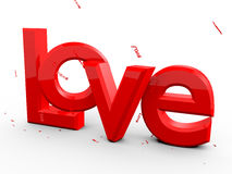 Love. Red  Love Letters with Love Raining from the sky Royalty Free Stock Images