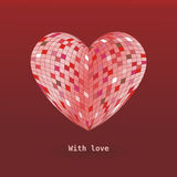 With love. Lovely card witd heart royalty free stock photography
