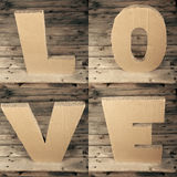 Love. Sign made of cardboard Royalty Free Stock Images