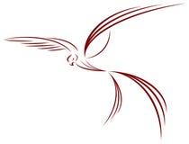 Love. Symbol- dove, bird, freedom Stock Illustration