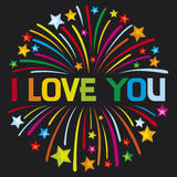 Love. I love you firework, j love you Royalty Free Stock Photo