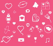 Love. Icons on the theme of love. EPS 8 file Stock Images