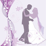 Love. Wedding card. Couple dance. Love card Royalty Free Stock Image