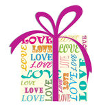 Love. Gift. Background . Wedding card Royalty Free Stock Photography