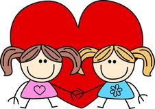 Love. Valentines day illustration or other celebration Royalty Free Stock Photo