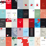 Love. Variety of 40 vertical business cards on a specific topic, the love Royalty Free Stock Image