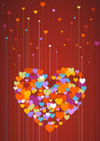 Love. Hearts Growing Like Flowers With Heart Made of Hearts Stock Photography