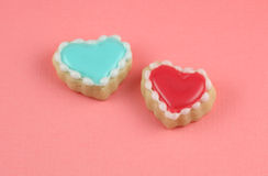 Love. Heart cookies valentine's day background Royalty Free Stock Photo