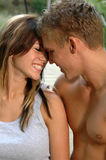 Love. A loving your couple kissing in the countryside Royalty Free Stock Photo
