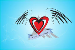 Love. Valentines Day Abstract Illustrator Vectro Stock Images