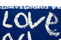 Love. A local wall covered in graffiti - Des Moines, Iowa stock photography