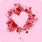 Love. Paint on pink background vector illustration