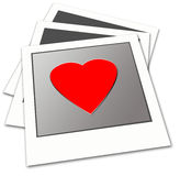 Love. Polaroid frame with love,2D digital art Royalty Free Stock Photo