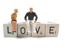 Love. A young couple in love royalty free stock photos