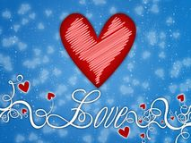 Love. Valentine,illustration, red,background,card,celebrate Royalty Free Stock Images