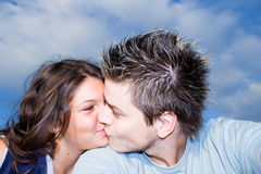 In Love. Couple Outside, having fun stock images