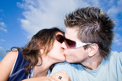 In Love. Couple Outside, having fun Royalty Free Stock Photo