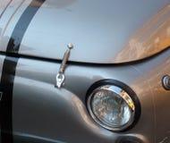 Love 500 cinquecento. Closeup of a 60s Fiat 500 headlight stock image