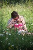 Love!. Beautiful young couple in nature Stock Photo