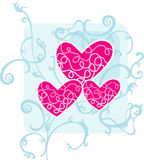Love. Heart shape with floral background Royalty Free Stock Photos