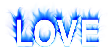 Love. Word in abstract white background Royalty Free Stock Photography