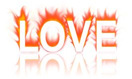 Love. Word in white background Royalty Free Stock Photography