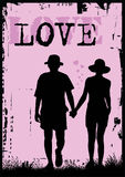 Love. Vector illustration of a sweet couple in love Stock Images